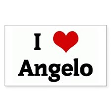 I Love Angelo Rectangle Decal