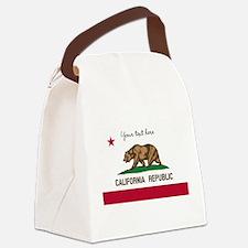 California Republic flag Canvas Lunch Bag