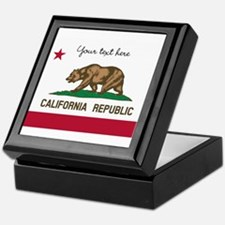 California Republic flag Keepsake Box