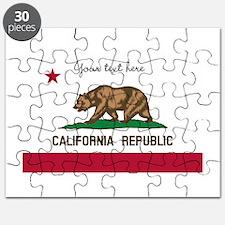 California Republic flag Puzzle
