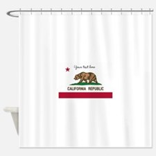 California Republic flag Shower Curtain