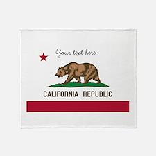California Republic flag Throw Blanket
