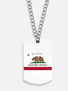 California Republic flag Dog Tags