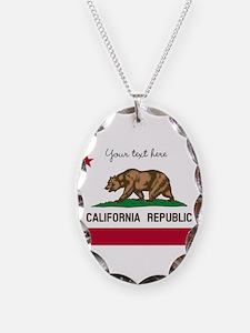 California Republic flag Necklace