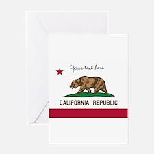 California Republic flag Greeting Cards