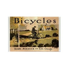Sears Roebuck Bicycles Ad Rectangle Magnet
