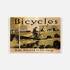 Sears Roebuck Bicycles Ad Rectangle Magnet (100 pa