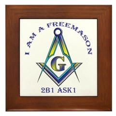 I am a Freemason Framed Tile