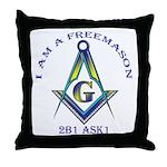 I am a Freemason Throw Pillow
