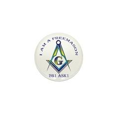 I am a Freemason Mini Button (10 pack)