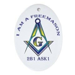 I am a Freemason Oval Ornament