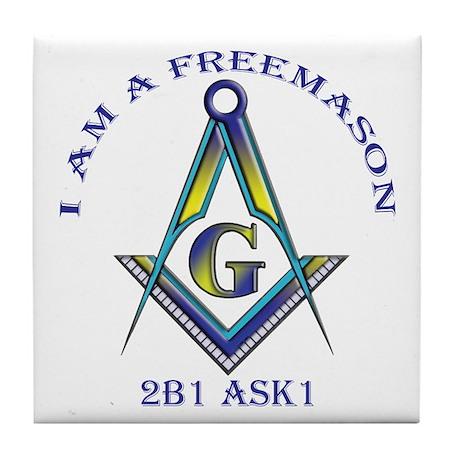 I am a Freemason Tile Coaster