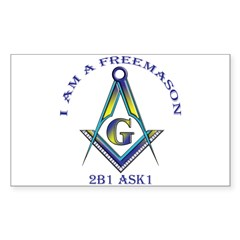 I am a Freemason Rectangle Decal