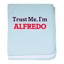 Trust Me, I'm Alfredo baby blanket