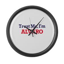 Trust Me, I'm Alvaro Large Wall Clock