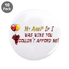 "Fine Wine 3.5"" Button (10 pack)"