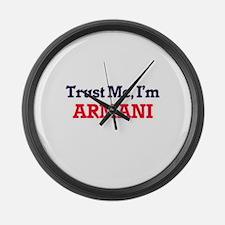 Trust Me, I'm Armani Large Wall Clock