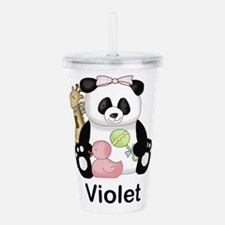Zoey's Little Panda Acrylic Double-wall Tumbler