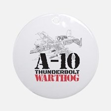 Funny Warthogs Round Ornament