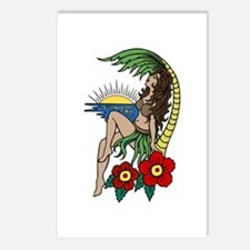 Hula Girl Postcards (Package of 8)
