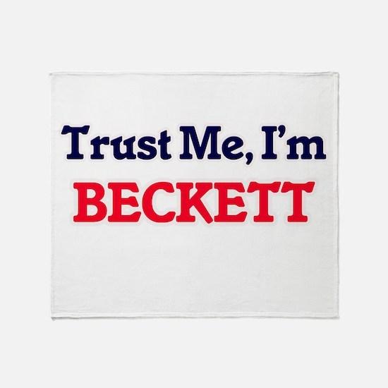 Trust Me, I'm Beckett Throw Blanket