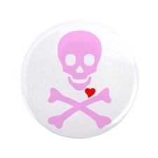 "Pink Pirates Love 3.5"" Button"