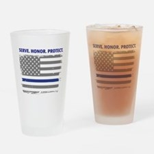 Sheriff thin blue line Drinking Glass