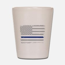 Funny Sheriff thin blue line Shot Glass