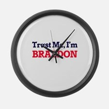 Trust Me, I'm Braedon Large Wall Clock