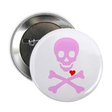 """Pink Pirates Love 2.25"""" Button (100 pack)"""