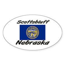 Scottsbluff Nebraska Oval Decal