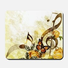 Butterfly Music Notes Mousepad