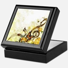 Butterfly Music Notes Keepsake Box