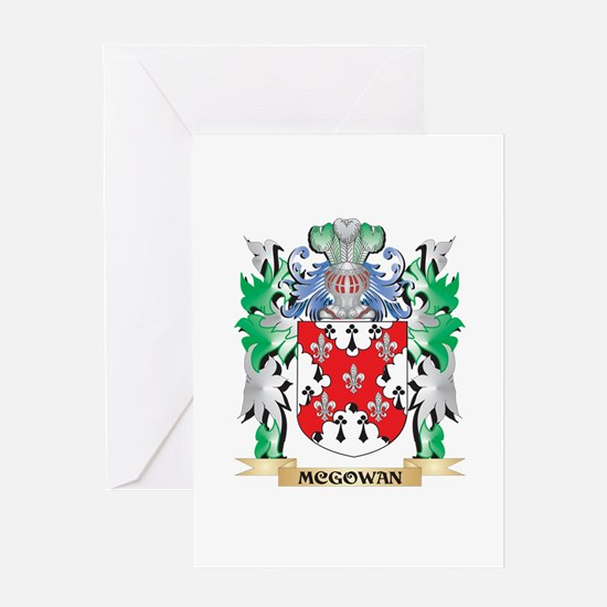 Mcgowan Coat of Arms - Family Crest Greeting Cards