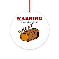 Wheat Allergy Ornament (Round)