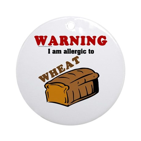 Wheat Allergy Ornament (Round)