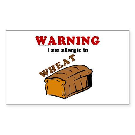 Wheat Allergy Rectangle Sticker