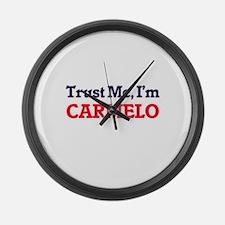 Trust Me, I'm Carmelo Large Wall Clock