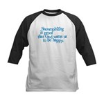 Snowmobiling is proof Kids Baseball Jersey