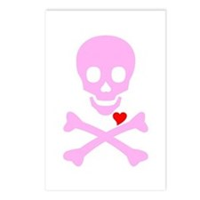 Pink Pirates Love Postcards (Package of 8)