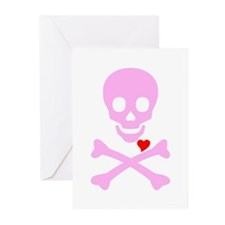 Pink Pirates Love Greeting Cards (Pk of 20)
