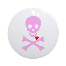 Pink Pirates Love Ornament (Round)