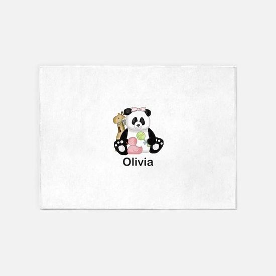 olivia's little panda 5'x7'Area Rug