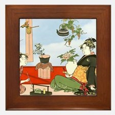 Tea Party Ceremony 18th Century Framed Tile