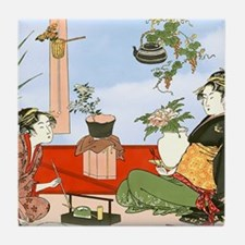 Tea Party Ceremony 18th Century Tile Coaster