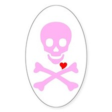 Pink Pirates Love Decal
