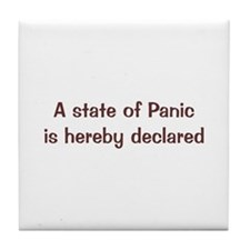 State of Panic Tile Coaster