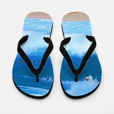 Pipeline Big Surf Hawaii Tropical Flip Flops