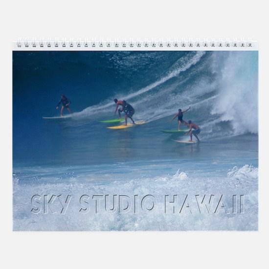 Waimea Wahine Surfers Wall Calendar