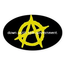 Anti-Gov't Oval Decal
